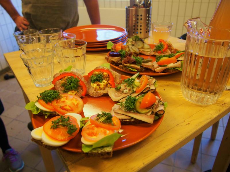 Denish open sandwich